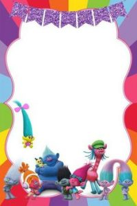 Trolls Birthday Invitations Printable