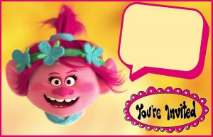 Trolls Movie Birthday Invitations