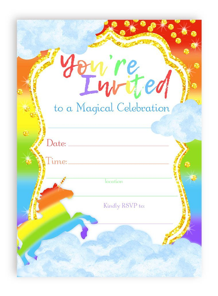 8 Magical Unicorn Birthday Invitations | Kitty Baby Love