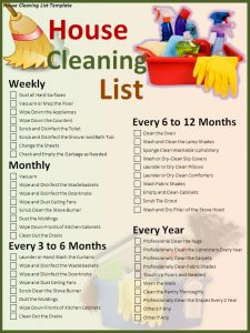 Vacant House Cleaning Checklist