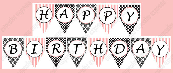 picture about Happy Birthday Lettering Printables titled 44 Neat Banner Letters