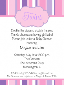 Baby Shower Invitations Sayings Twins