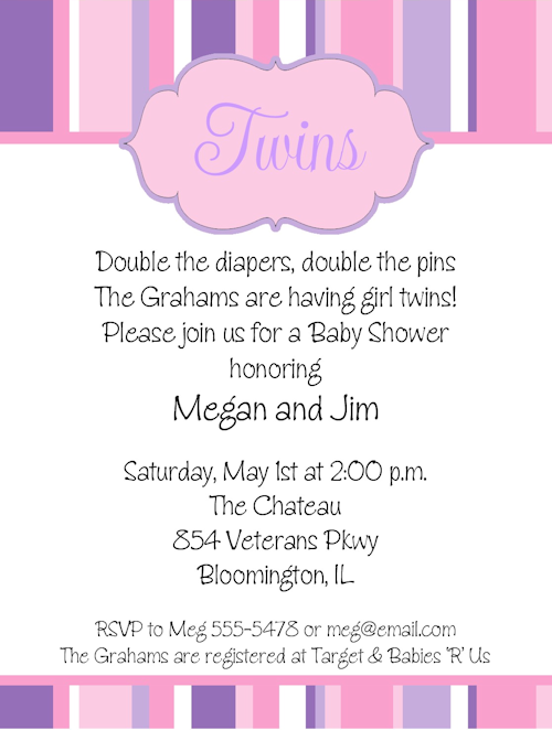 44 twin baby shower invitations for you kitty baby love baby shower invitations sayings twins filmwisefo