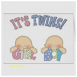 Baby Shower Invitations for Twins Boy and Girl