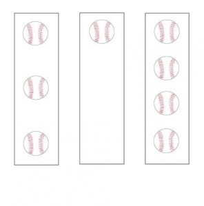 Baseball Bookmarks to Color