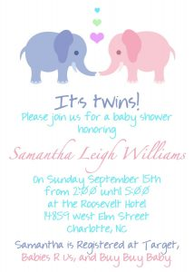 Best Twin Baby Shower Invitations