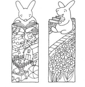Black And White Bookmarks to Color