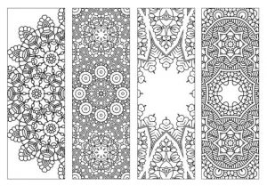 Blank Bookmarks to Color