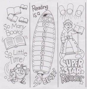 Bookmarks to Color and Cut Out