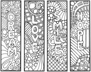 Bookmarks to Color for Adults