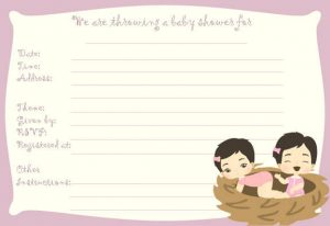Cheap Baby Shower Invitations for Twins