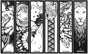 Cool Bookmarks to Color