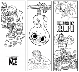 Disney Bookmarks to Color