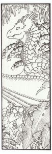 Dragon Bookmarks to Color