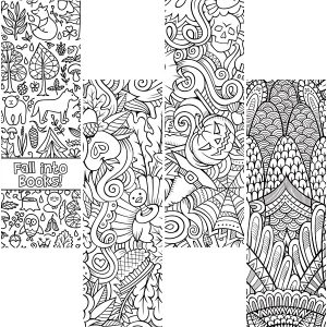 Fall Bookmarks To Color