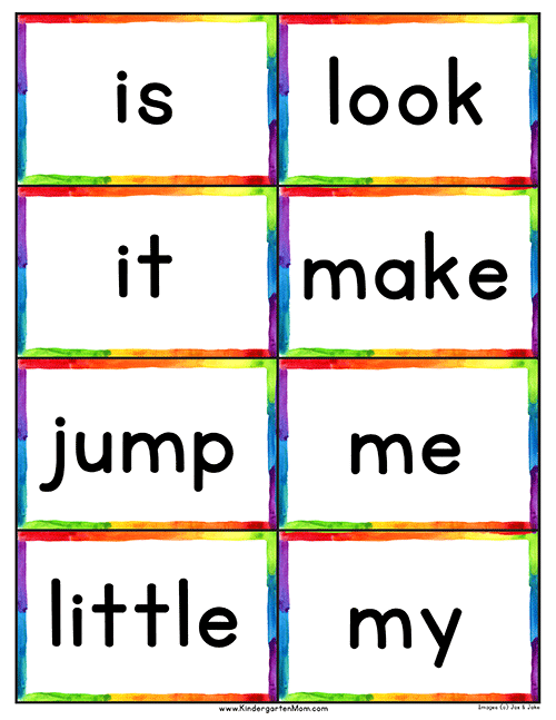 Inventive image pertaining to printable sight word cards