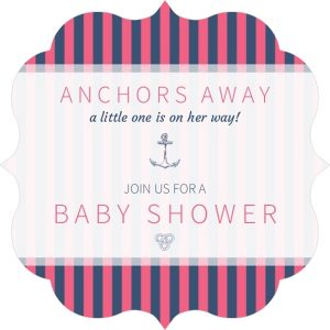 Free Downloadable Nautical Baby Shower Invitations
