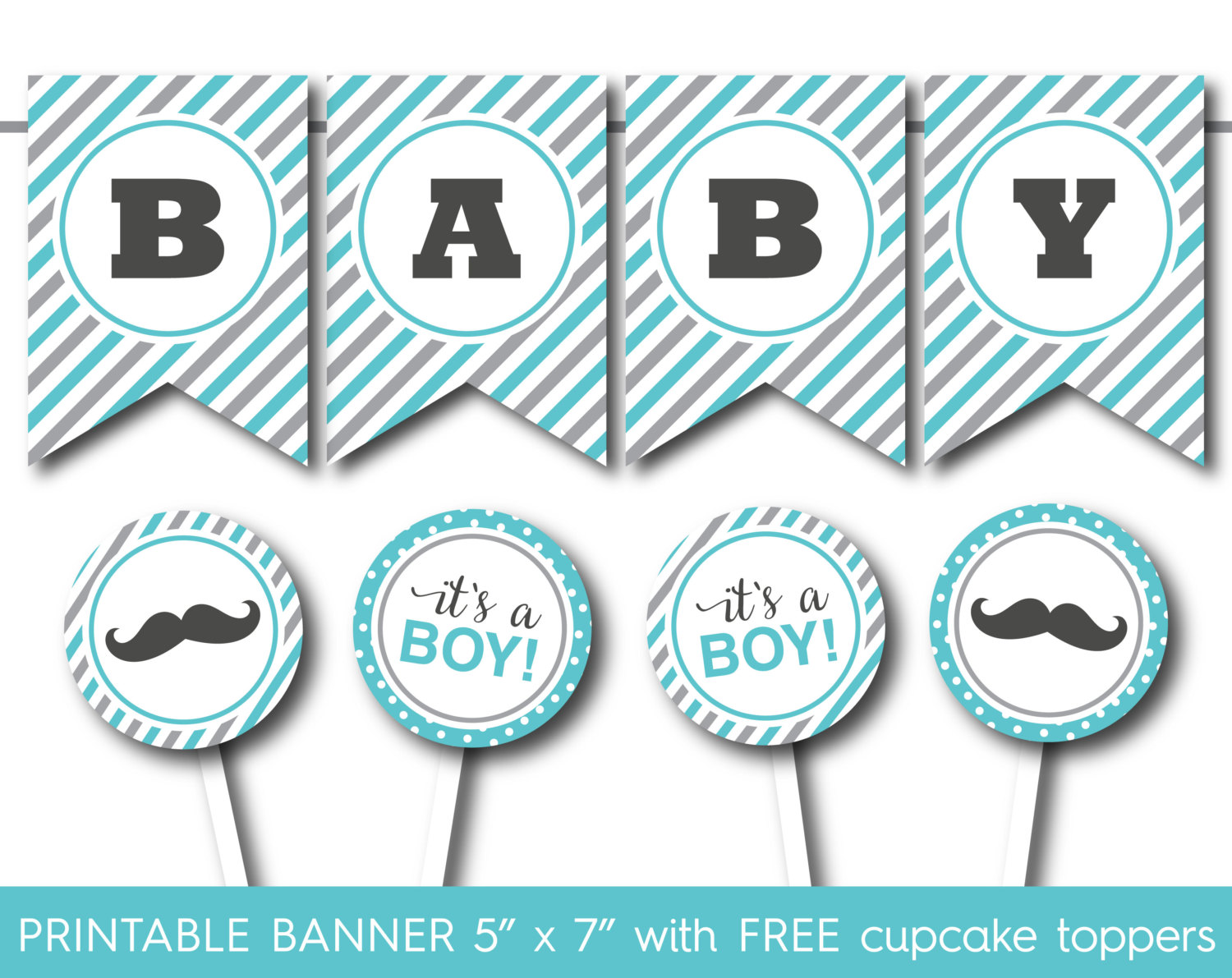 Free Printable Baby Shower Cake Toppers