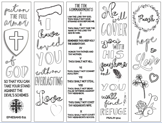 It's just an image of Invaluable Free Printable Bible Verse Bookmarks to Color