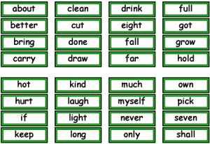 Free Printable Flash Cards Sight Words
