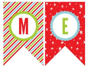 Free Printable Merry Christmas Banner Letters