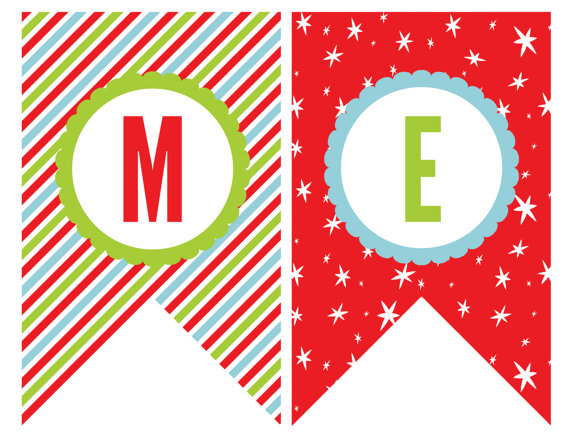 picture relating to Printable Merry Christmas Banner referred to as 44 Awesome Banner Letters