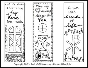 Free Religious Bookmarks to Color
