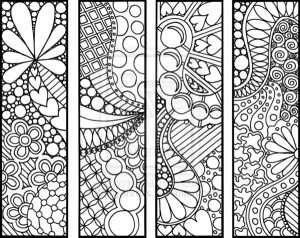 Free Zentangle Bookmarks to Color