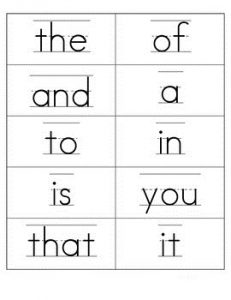 Fry Sight Words Flash Card Free