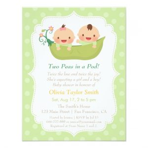 Funny Twin Baby Shower Invitations