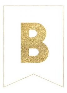 Gold Banner Letters