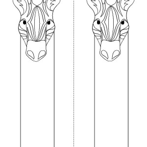 Horse Bookmarks to Color