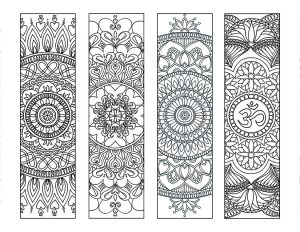 Mandala Bookmarks to Color