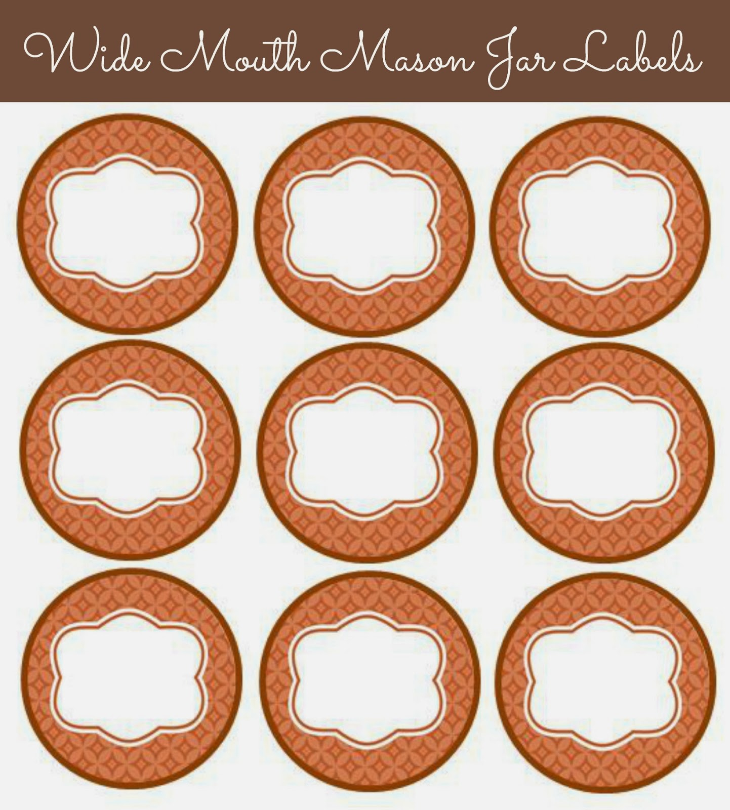 image about Free Printable Mason Jar Lid Labels named 56 Lovely Mason Jar Labels