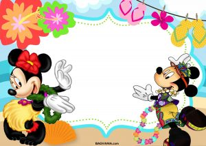 Mickey Mouse Luau Party Invitations