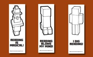Minecraft Bookmarks to Color