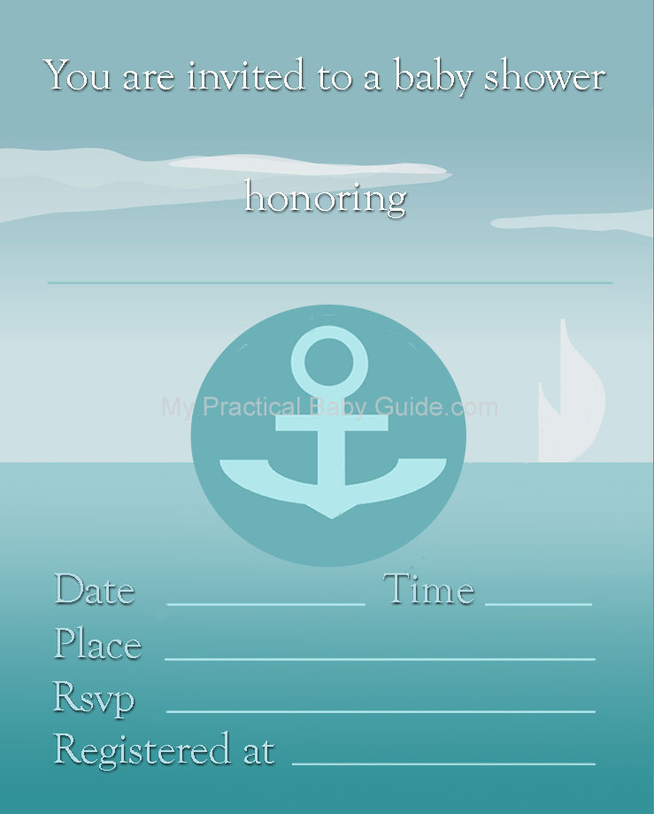 17 Nautical Baby Shower Invitations | Kitty Baby Love