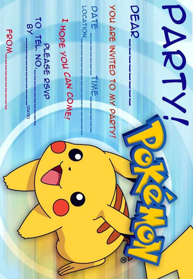 It's just a picture of Peaceful Pokemon Invitations Printable Free