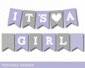 Printable Baby Shower Banner Letters