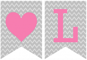Printable Banner Letters Template Free