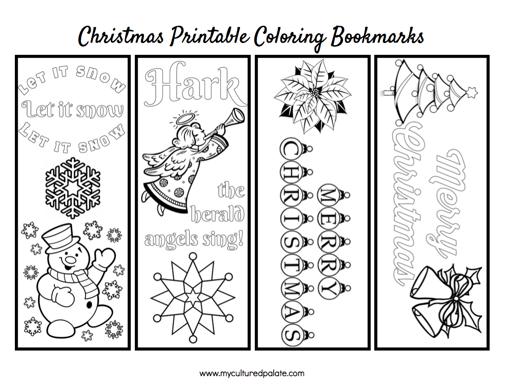 Ambitious image throughout printable christmas bookmarks