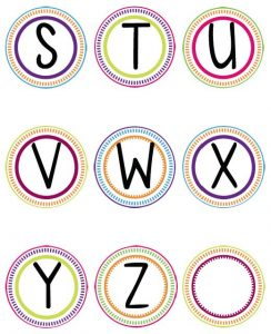 Printable Letter Templates for Banners