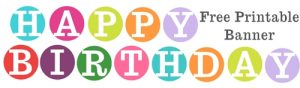 Printable Letters for Birthday Banners