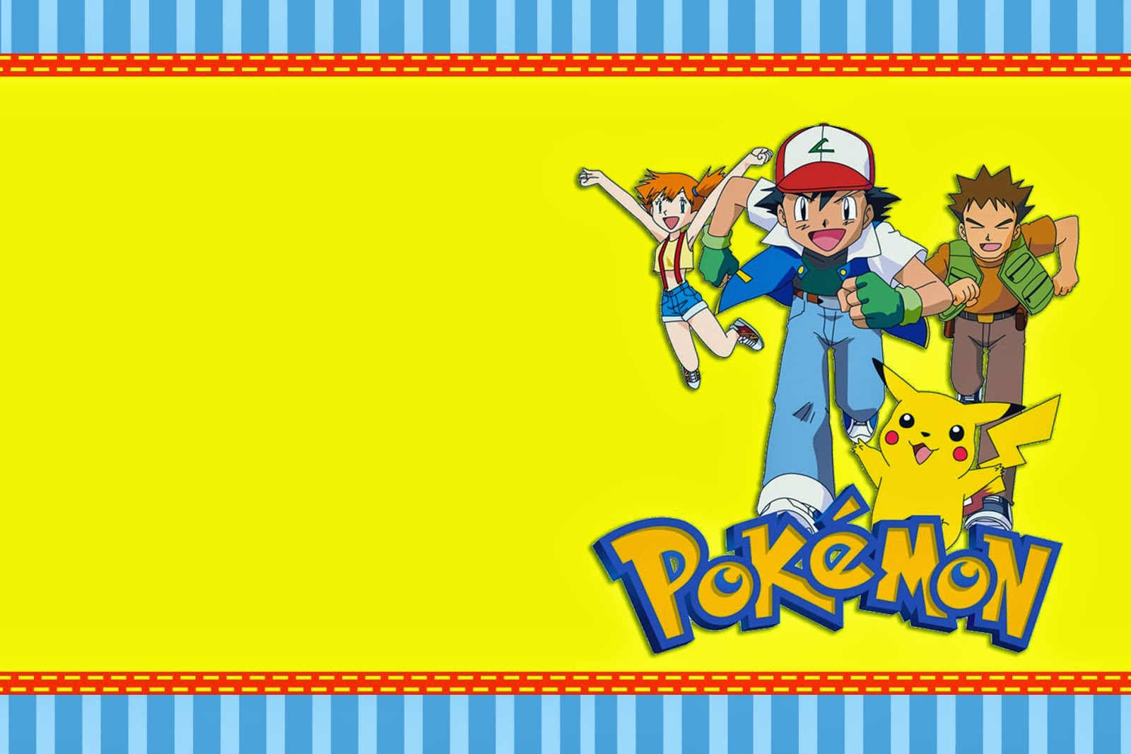 Printable Pokemon Birthday Invitations