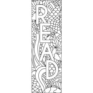 Reading Bookmarks to Color