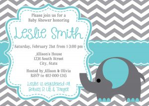 Sample Twin Baby Shower Invitations