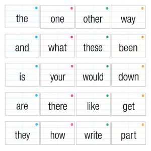 Second Grade Sight Words Flash Cards