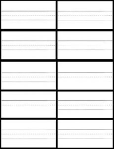 Sight Word Flash Card Template