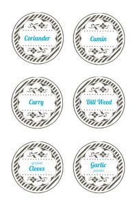 Spice Jar Labels Template Free