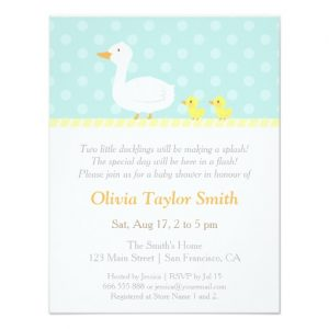 Twin Duck Baby Shower Invitations